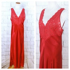 Victoria's Secret Vintage Red Full Length negligee